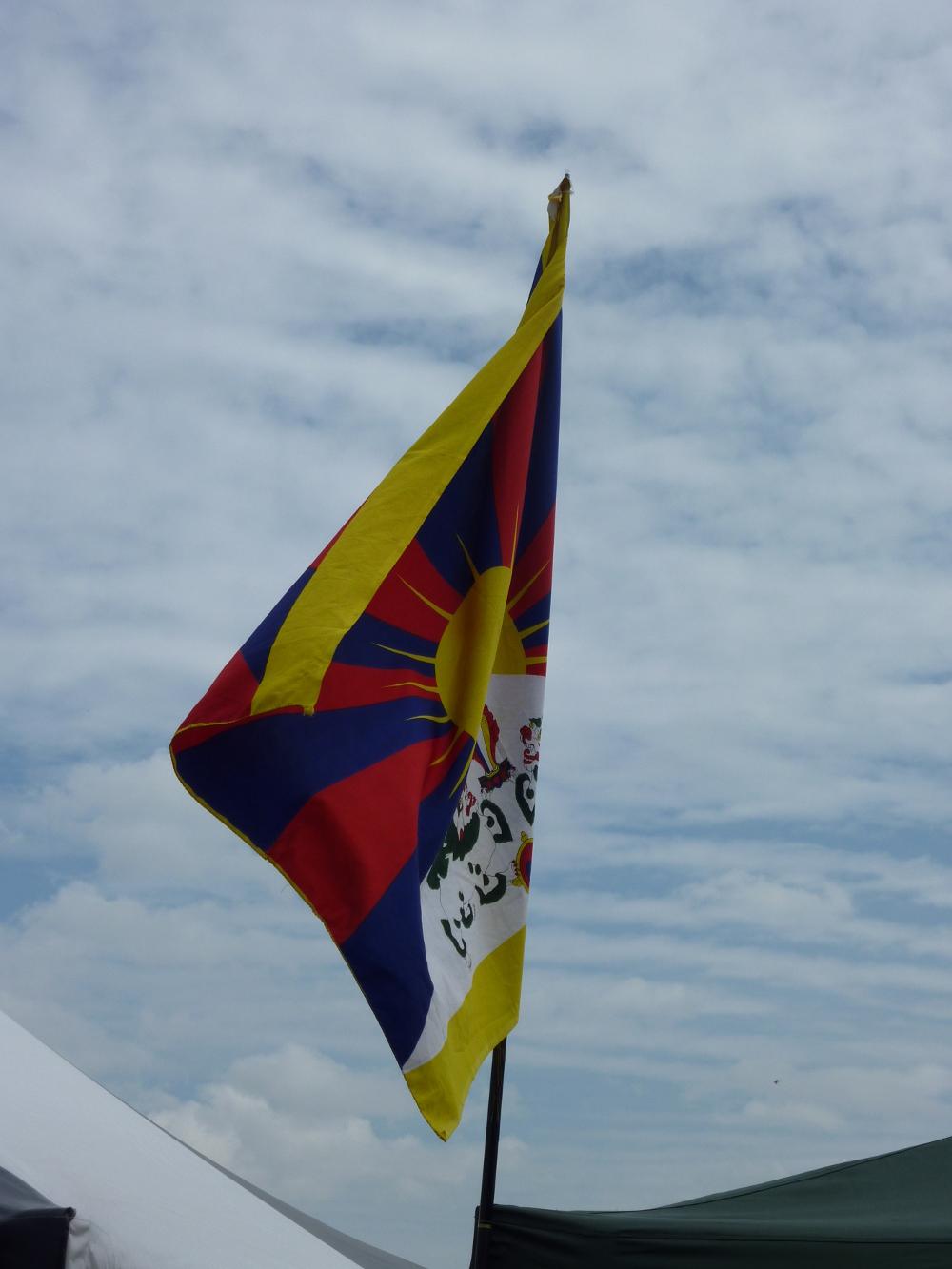 Flying the Tibet flag