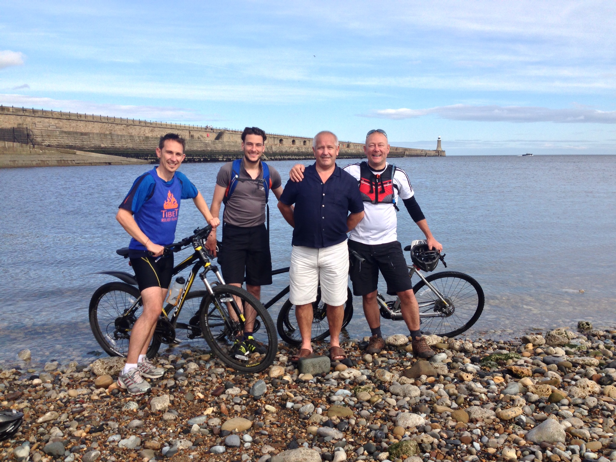 Photos of Peter Maguire sponsored bike ride from Whitehaven to Tynemouth