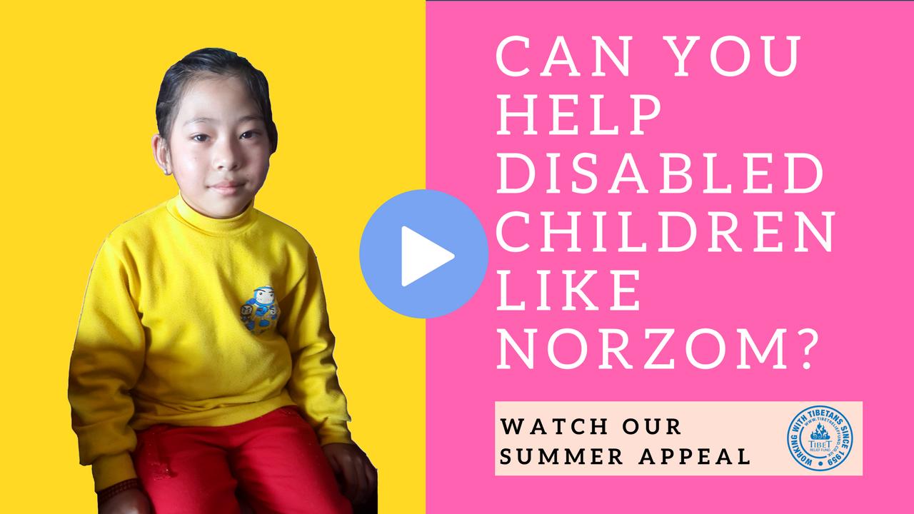 Summer Appeal: Help disabled Tibetan children finish school