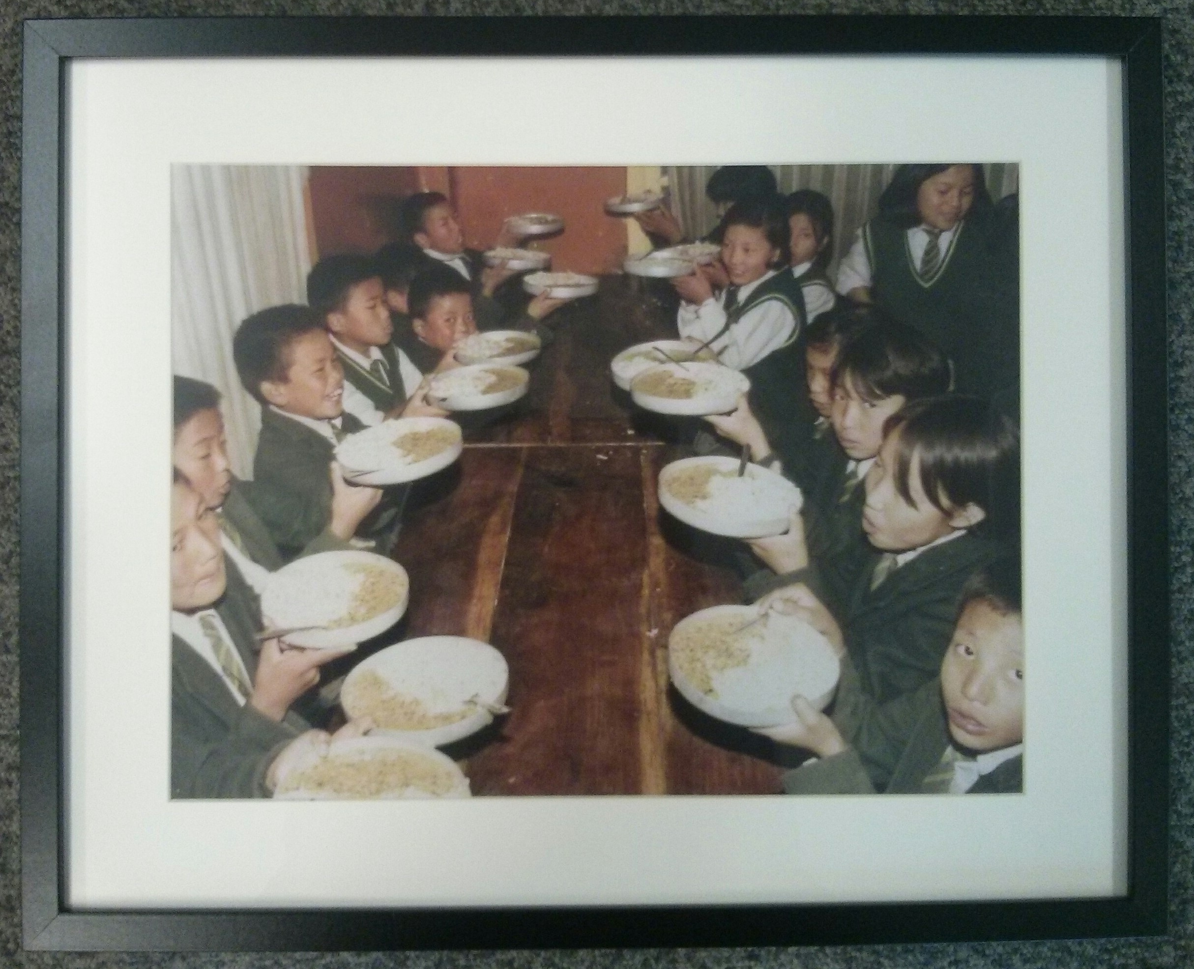 Meal time at Tibetan Homes Foundation