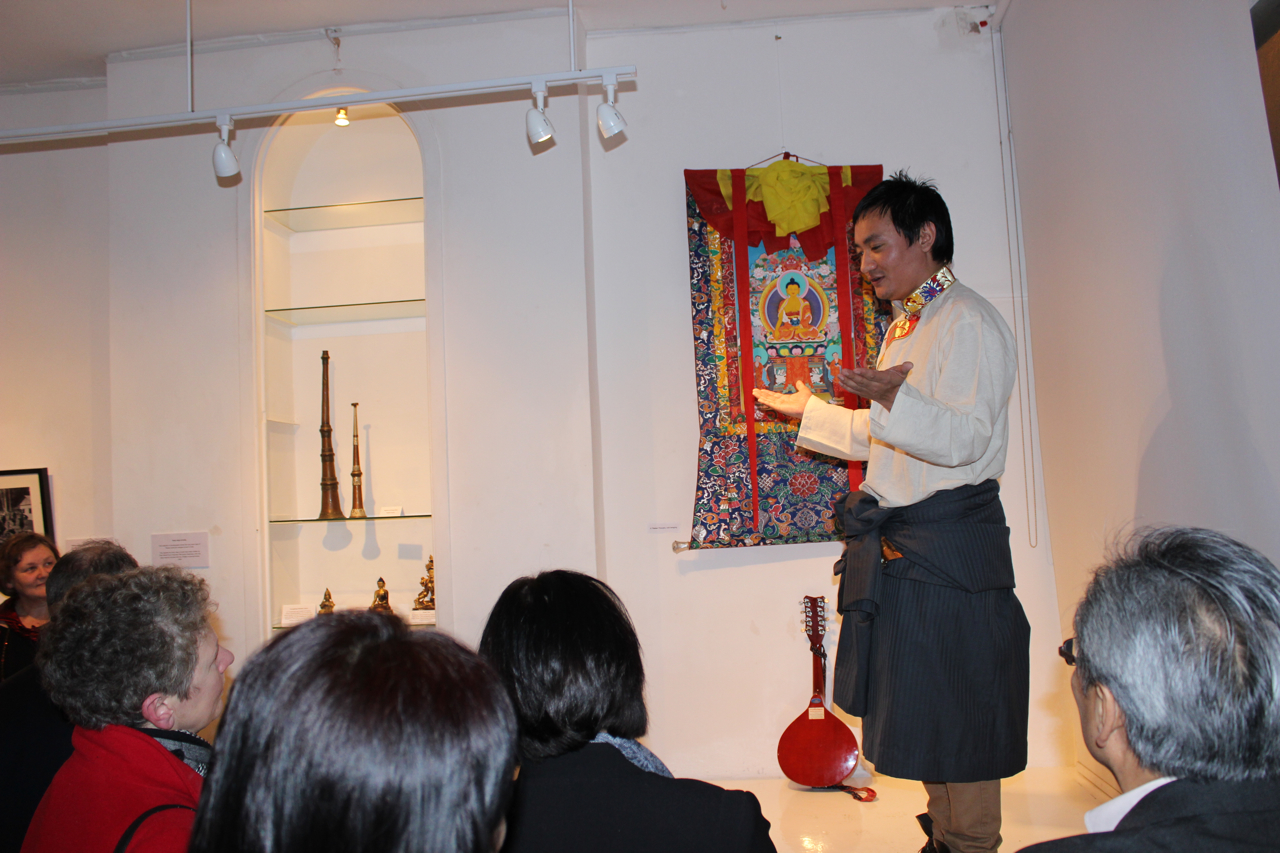 Traditional Tibetan song from Loduph at the opening reception