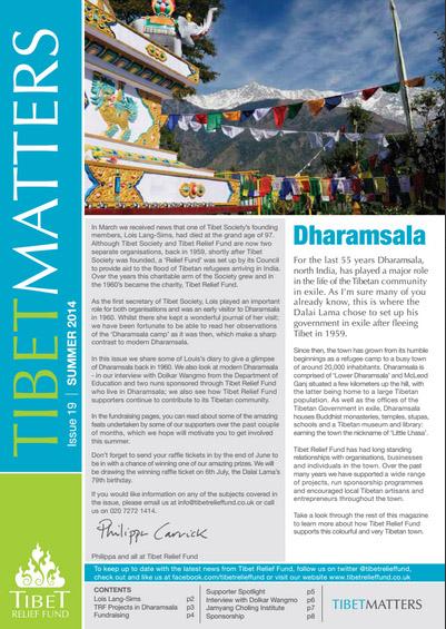 Tibet Matters – Summer 2014