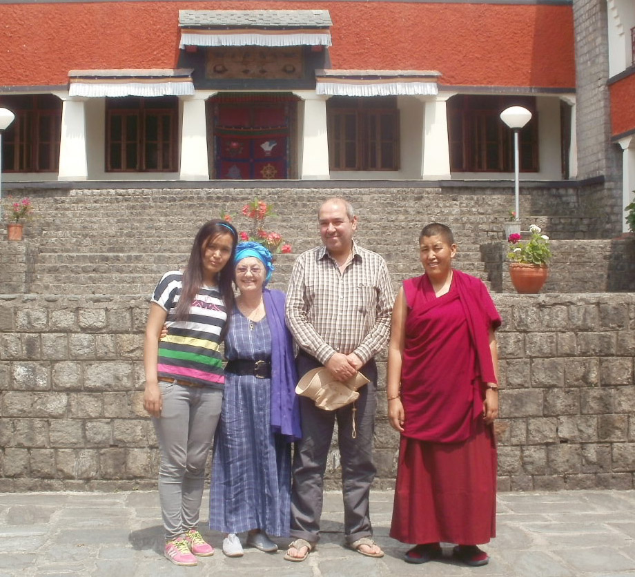 Thinley, Jacqueline, Phuntsok (far left)
