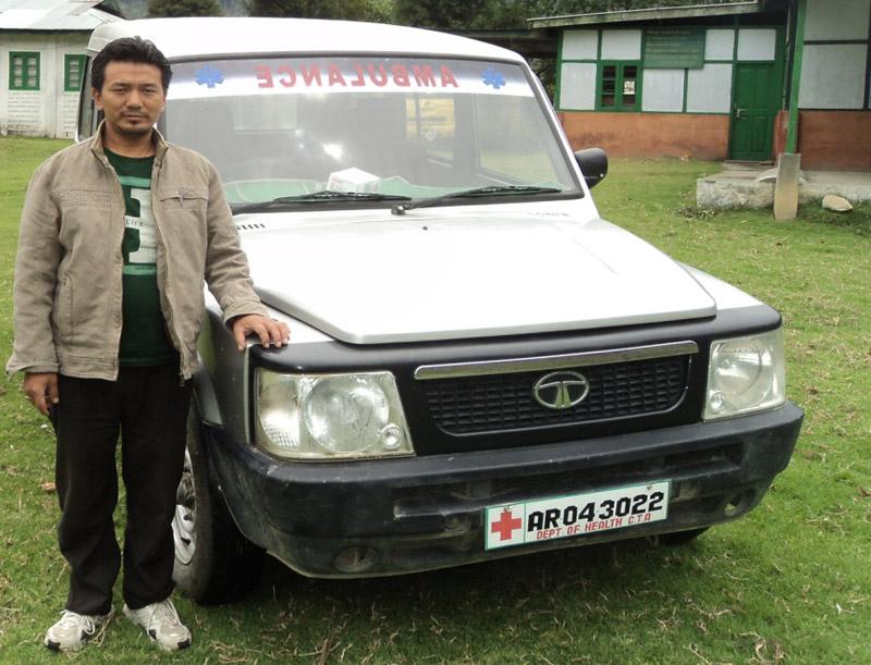 Tenzingang ambulance driver