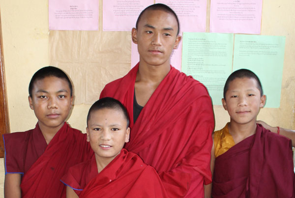 Monks at Namgyal Monastic School, Pokhara