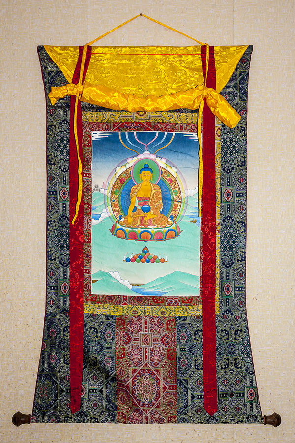 Tenzin Jamtse's first Thangka