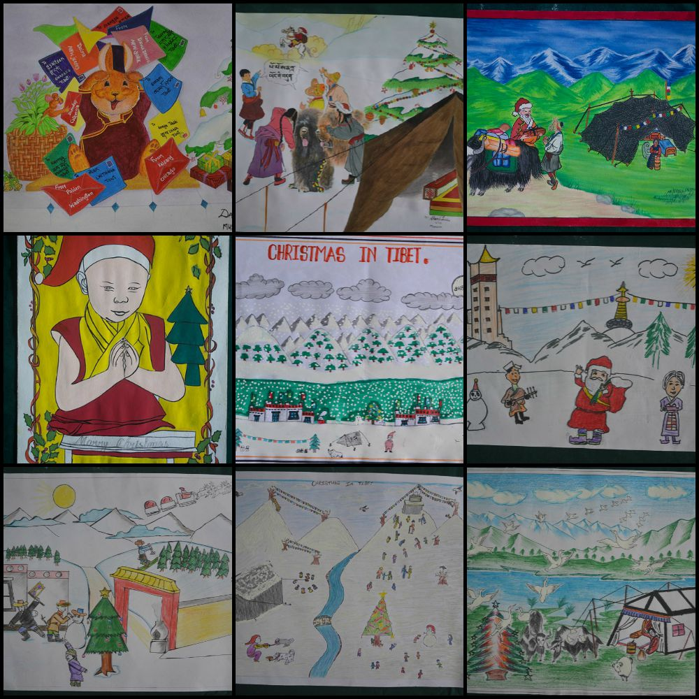 [Closed] Vote now on our 2015 Christmas cards, all drawn by Tibetan children in exile