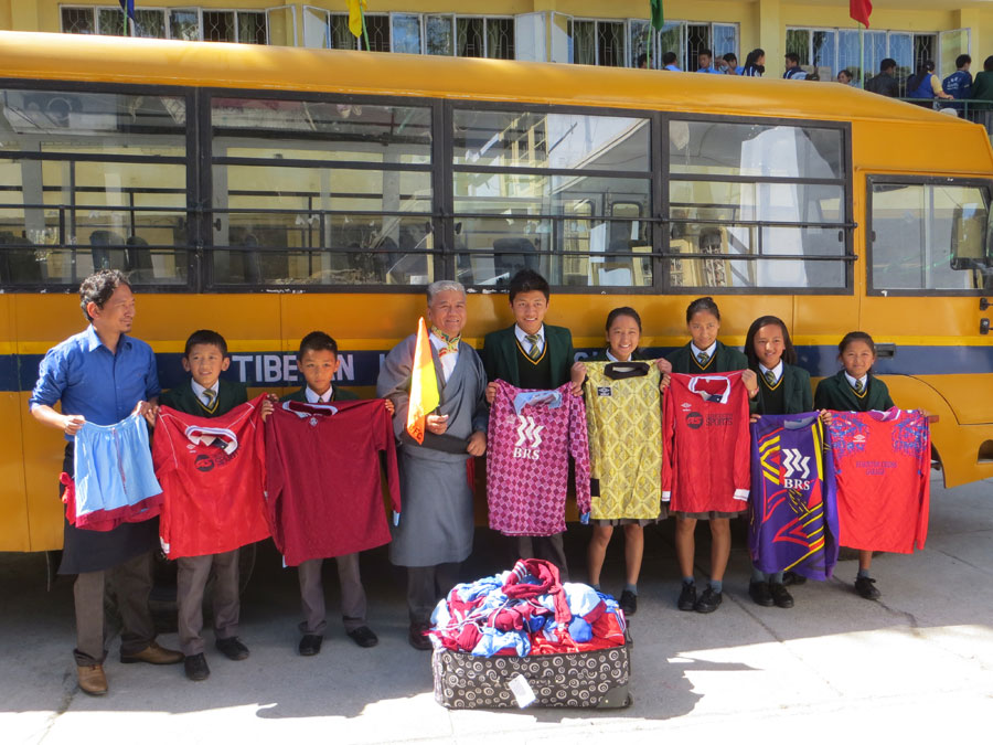 Tibet Matters: Huge selection of retro football kits delivered to Tibetan Homes Foundation