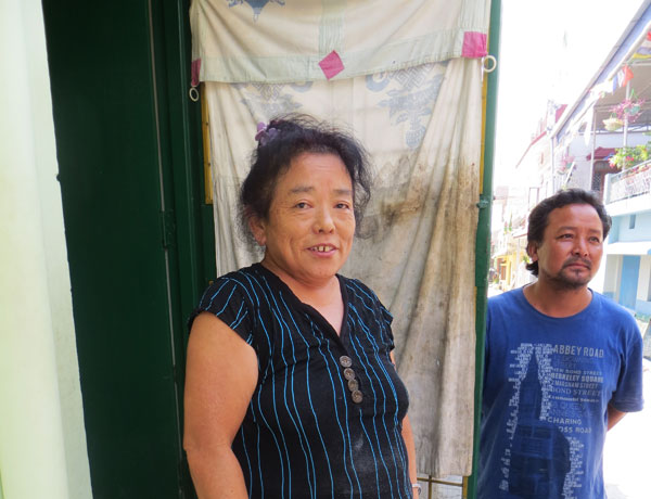 A resident of Dekyiling who receives a Tibet Relief Fund stipend