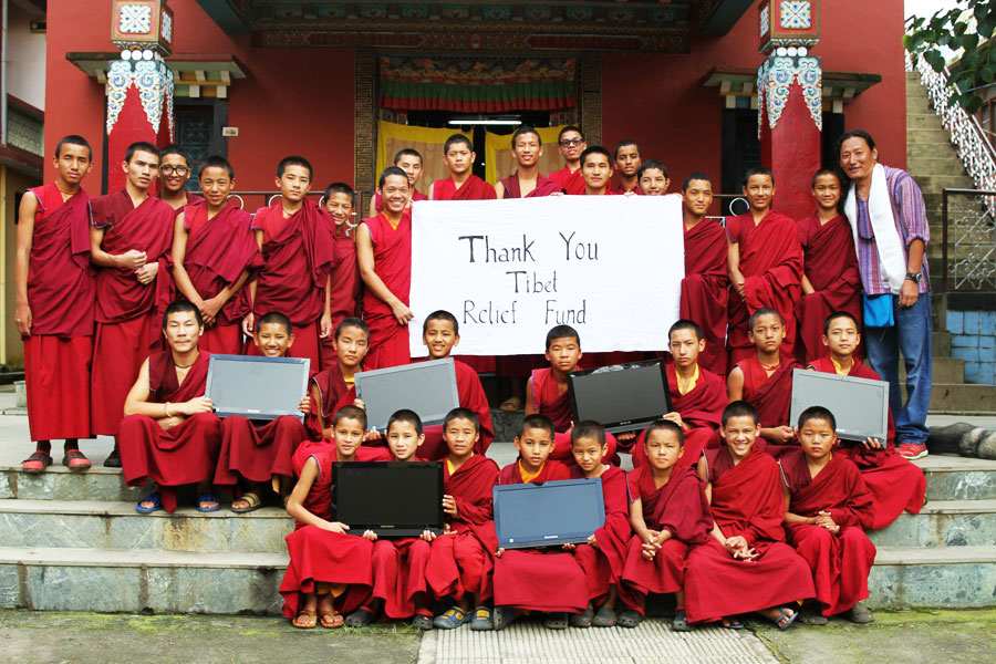 Tibet Relief Fund annual review: Computers sent to Dirru monastery
