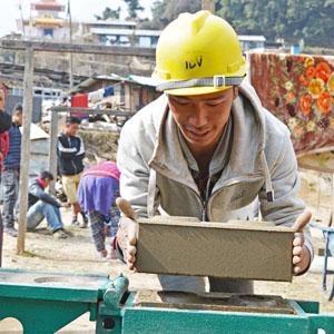 Making bricks at Bakhang