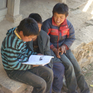 Children at Tsagam school
