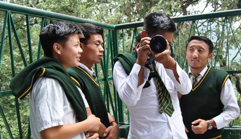 Snapping happy at Tibetan Homes Foundation!