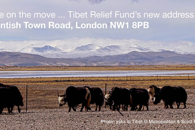 We are on the move! Tibet Relief Fund's NEW address: 99 Kentish Town Road, London, NW1 8PB