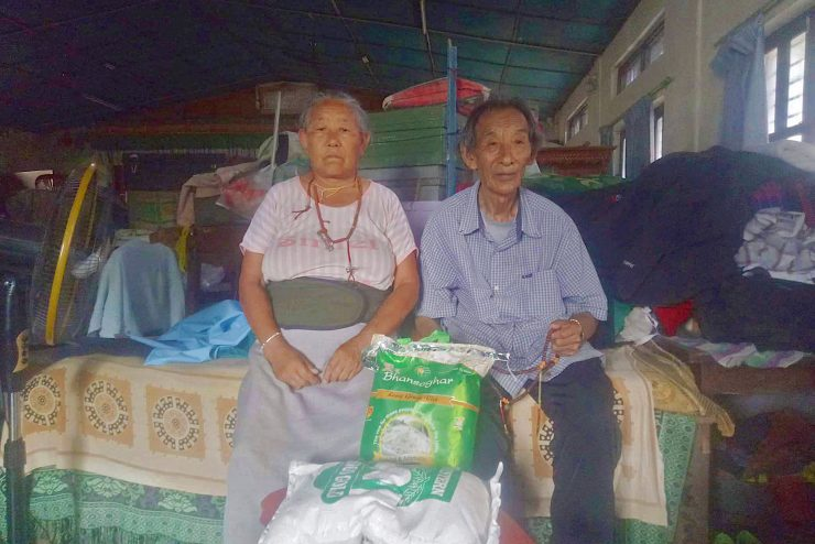 Thank you! Emergency food parcels distributed to over 800 Tibetans struggling under lockdown in Nepal.